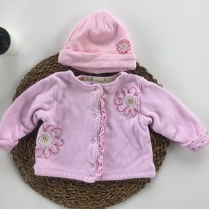 👛[Little Me] Sweater Jacket with Matching Hat